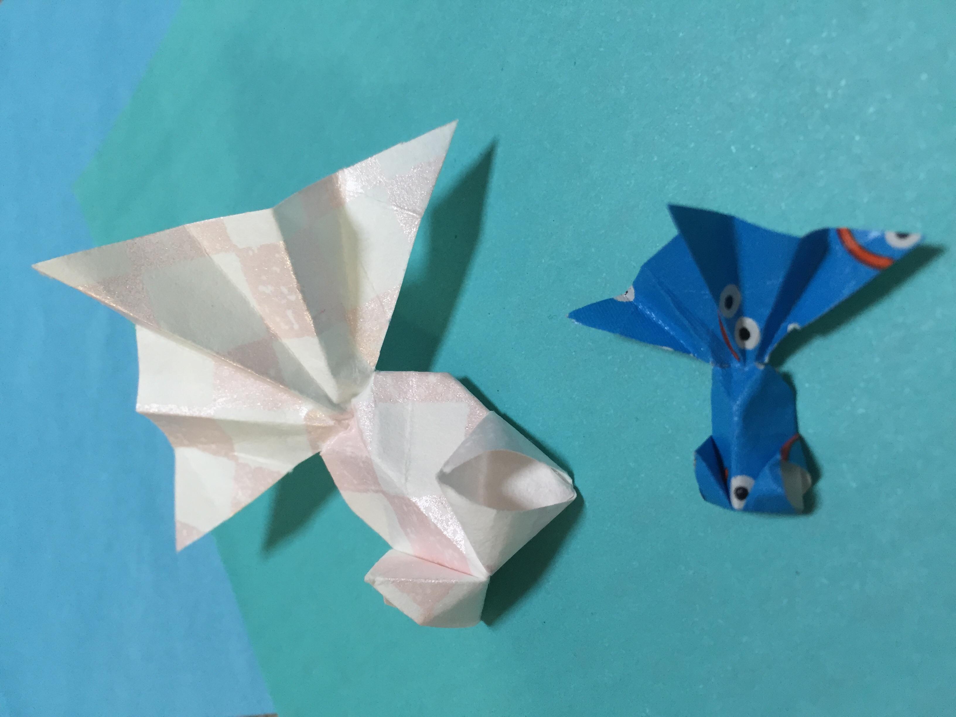 金魚 立体 折り紙