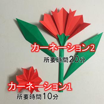 折り 折り紙 カーネーション 折り紙 簡単 : origami.onl